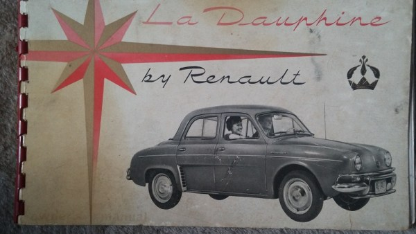 Renault Dauphine owner's manual.