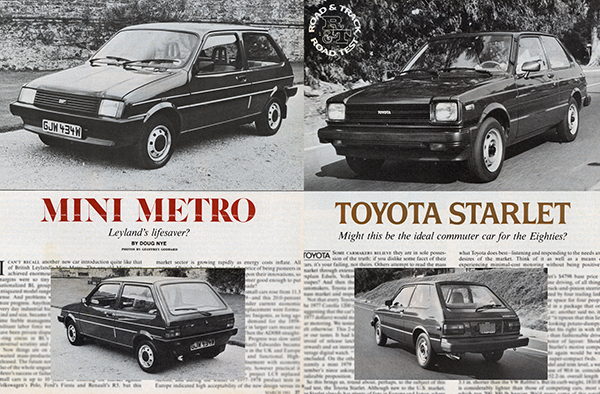 Vintage Review: Toyota Starlet and Mini Metro | Curbside Classic