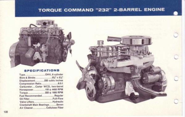 AMC 1967 232 2v six Data Book-108