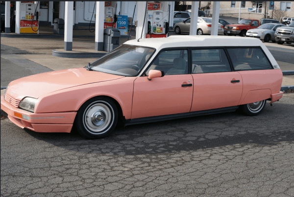 Citroen CX break pink side