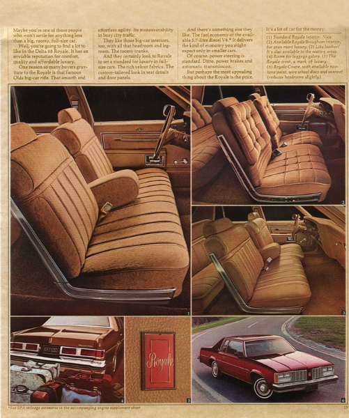 1979 Oldsmobile Delta 88 Royale brochure page CC
