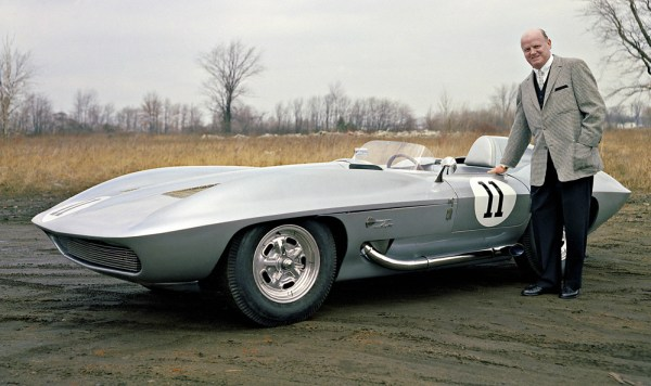 Harley Earl with a 1959 Chevrolet Stingray. W59HV_CH006