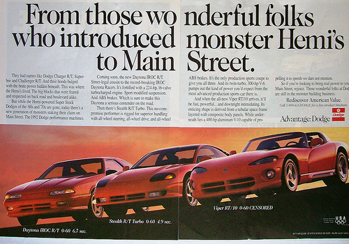 dodge daytona iroc rt ad