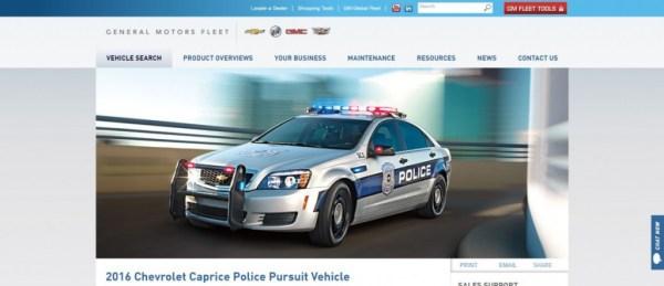 2016 Chevy Caprice PPV Police Car GM Fleet
