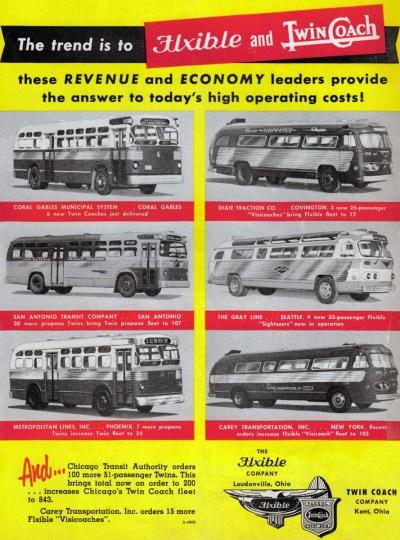 Flxible Twin Coach ad
