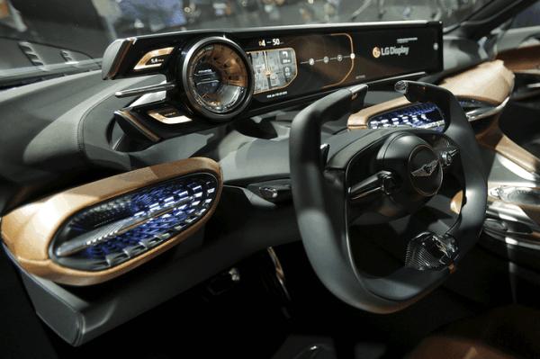 Hyundai 2016 genesis blue concept dash