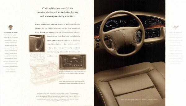 Oldsmobile Ninety-Eight dash brochure
