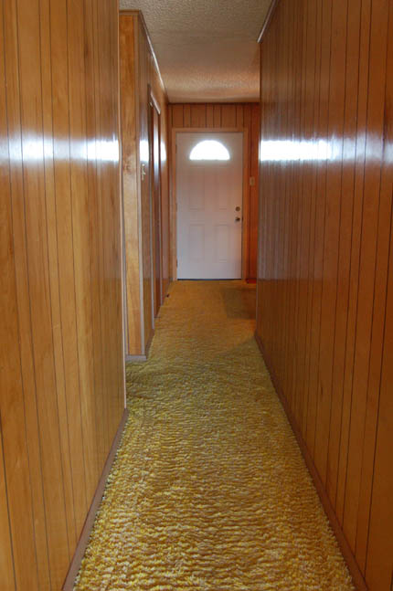 Wood paneling hall