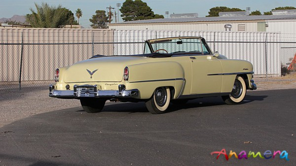 1953 Chrysler Windsor Convertible from its best angle (IMHO). The V is wrong!