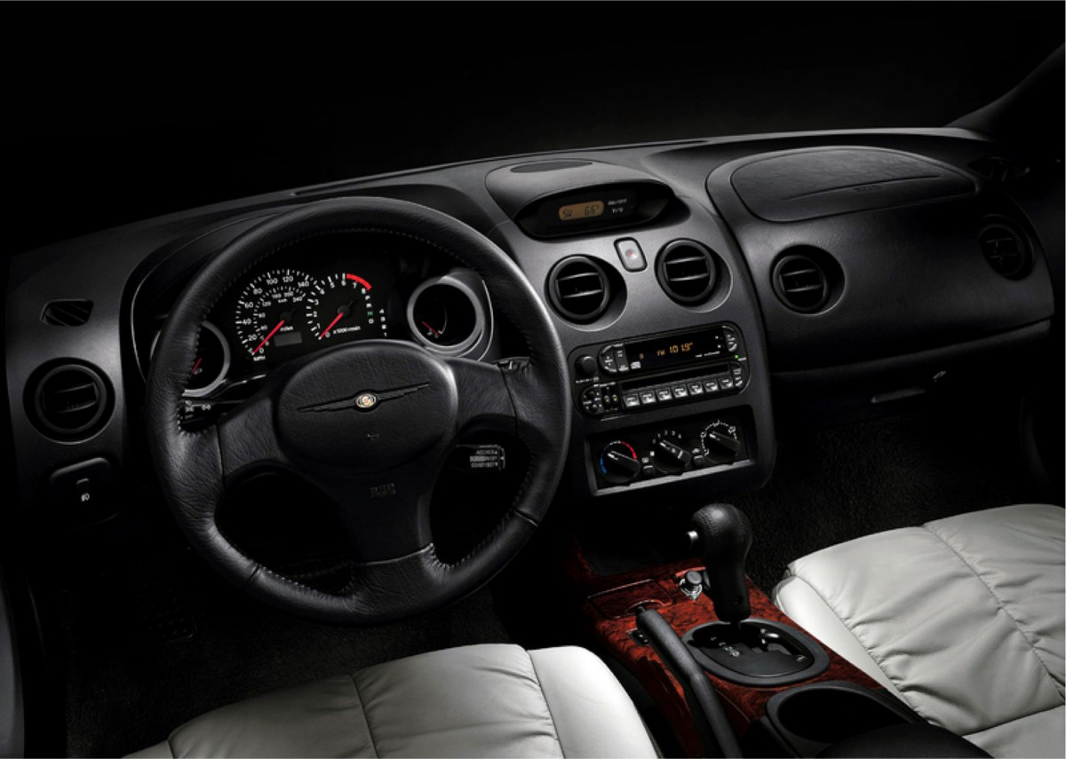 mitsubishi eclipse 2003 interior. inside the coupeu0027s threepod instrument panel and center console shared with stratus coupe were straight out of eclipse given sportier mitsubishi 2003 interior