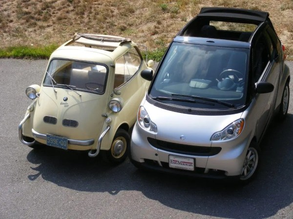 5 - smart cabrio with Isetta