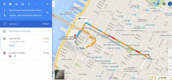 Grand Central Terminal to Jacob K. Javits Convention Center Google Maps