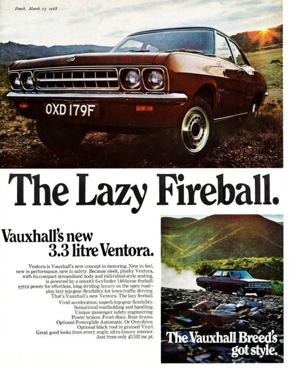 Ventora FD advert 1968
