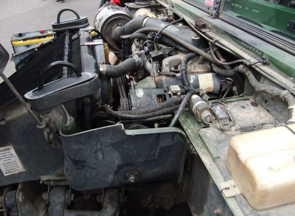 Humvee engine bay