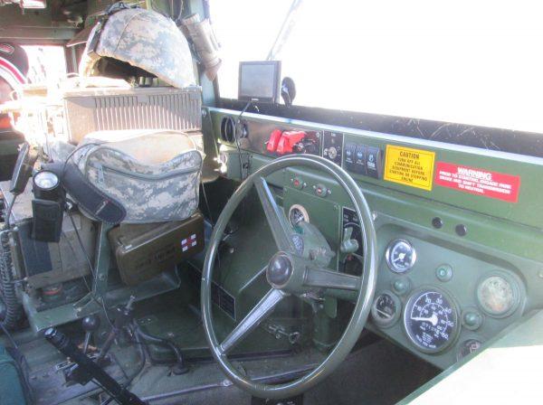 Humvee interior