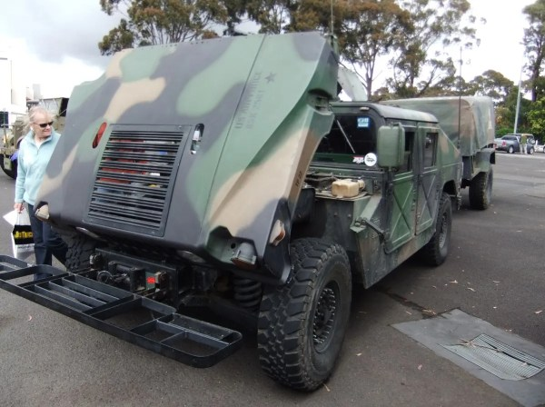 Humvee with trailer