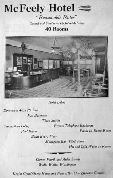 McFeely Hotel, ca1914