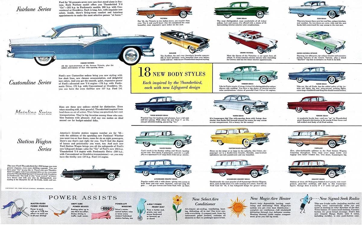 1956 ford customline wagon old car hunt - 1956 Ford Foldout 03