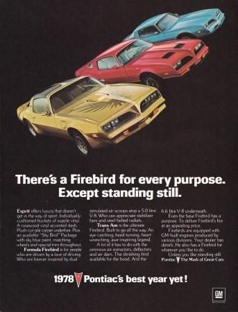 Ad 1978 Pontiac Firebird