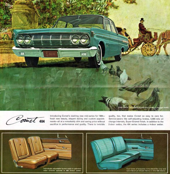 1964 Mercury Comet 404 brochure