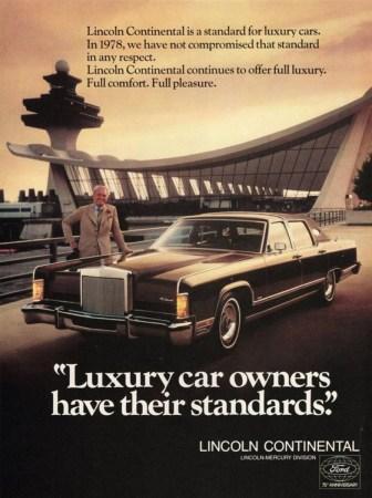 Ad 1978 Lincoln Continental