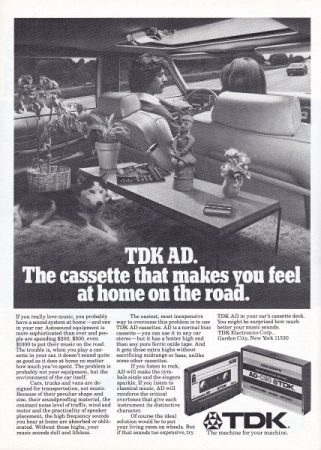 Ad TDK cassettes 1979