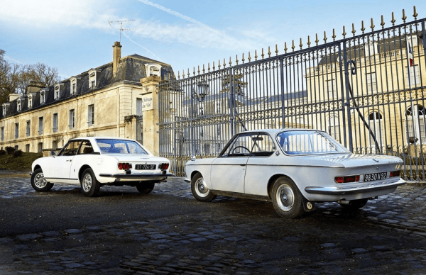 Peugeot 504 coupe and BMW 2000 coupe