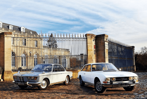 Peugeot 504 coupe with BMW 2000CS