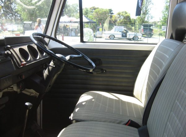 VW race transporter interior