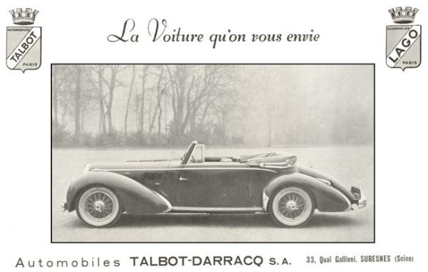 "The T26 factory cabriolet: elegant, powerful, unaffordable. Do the French have a word for ""élite""?"