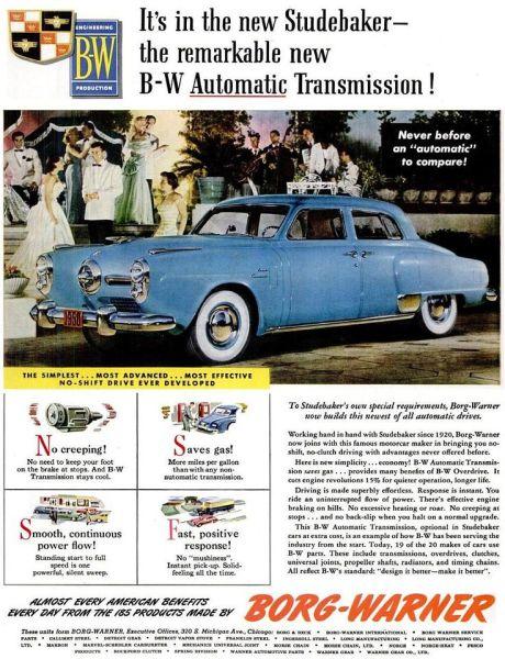 Studebaker Automatic drive BW 1950