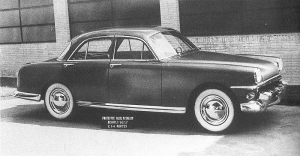 Facel's proposed design for the 1953 Vedette.