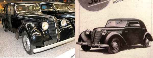 1938 Amilcar Compound (left) and Rosengart LR 539 Supertraction (right, 1938 brochure)