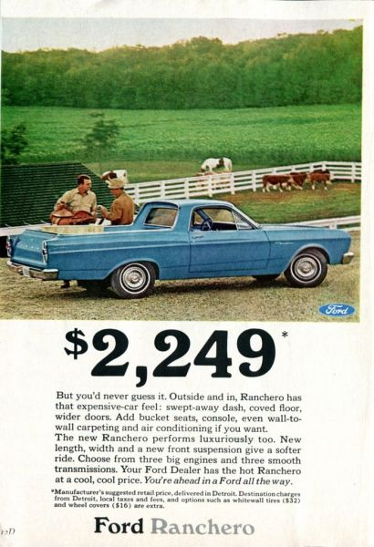 Ford Ranchero 1966 ad
