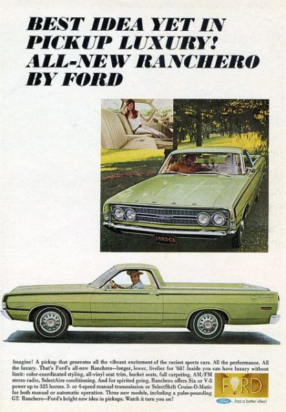 Ford ranchero 1968 ad
