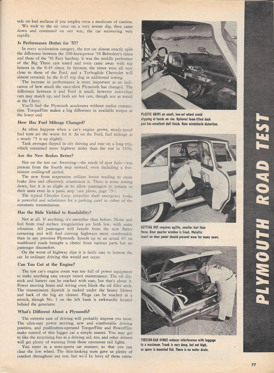 Vintage Reviews Motor Trends 1957 New Car Issue Ford