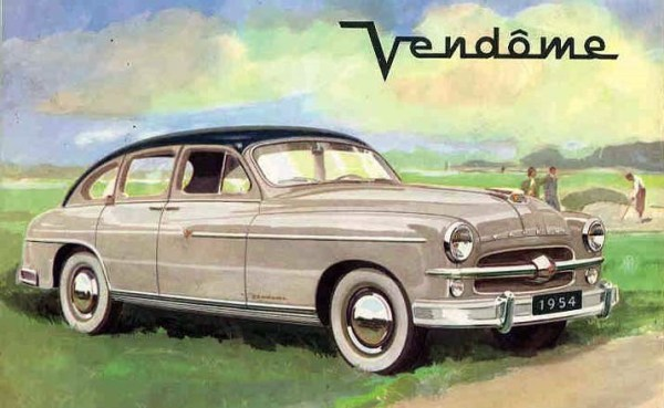 The Ford Vendôme 22 CV, a plusher Vedette with the large V8, was produced only for the 1954 model year.