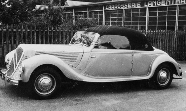 1952 15-Six cabriolet by Langenthal, boldly sinking the headlamps into the fenders.