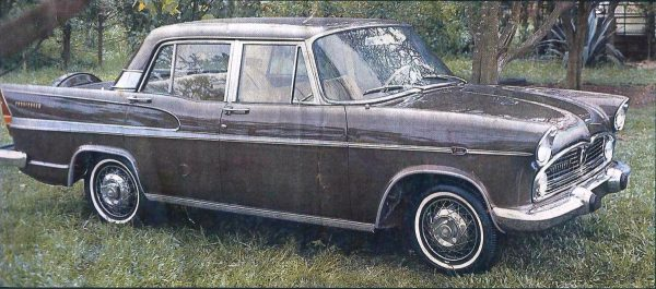 1965 Simca Présidence with the new Super Tufão V8 and restyled roof.