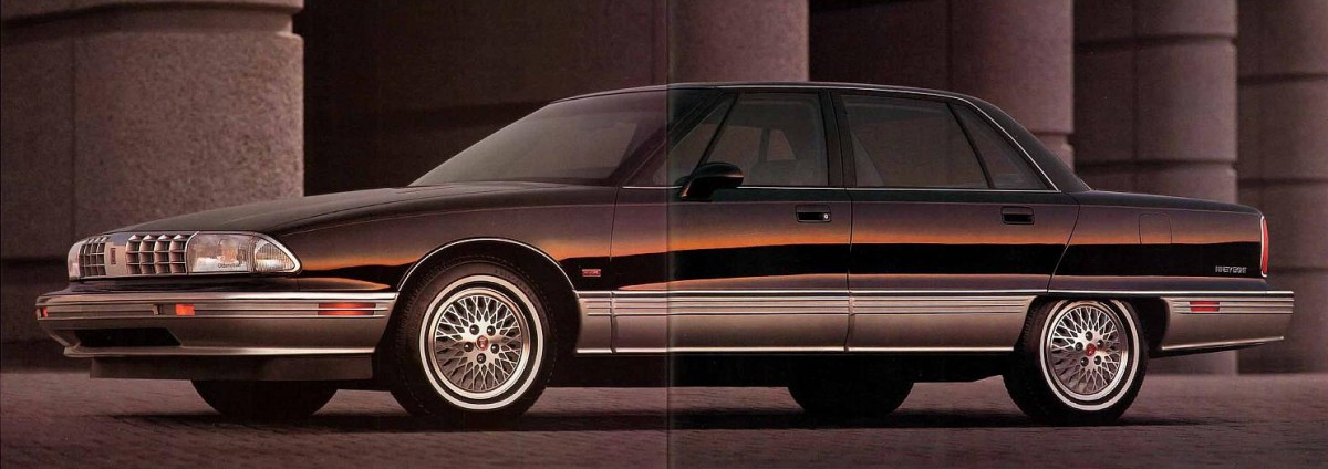 curbside classic 1991 oldsmobile ninety eight gm s deadly sin 20 a sad end to the oldest. Black Bedroom Furniture Sets. Home Design Ideas