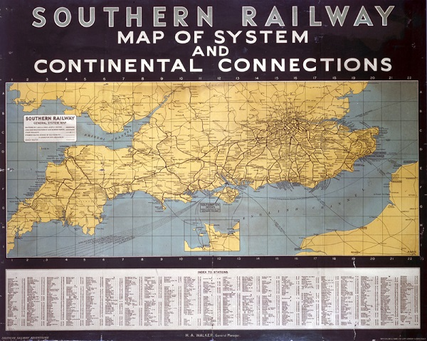 SR poster. Map of System and Continental Connections