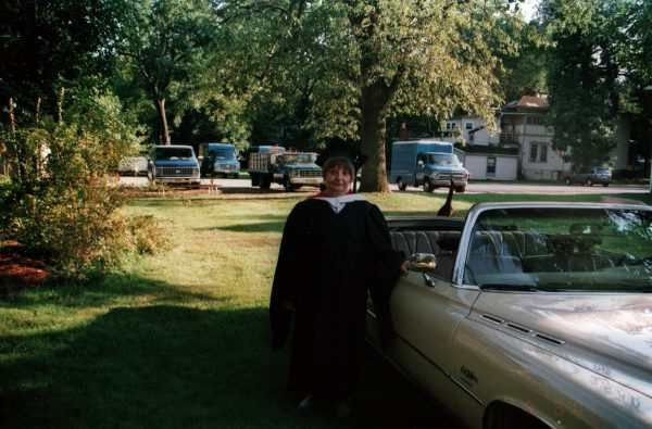 Mom on the day she got her Masters degree