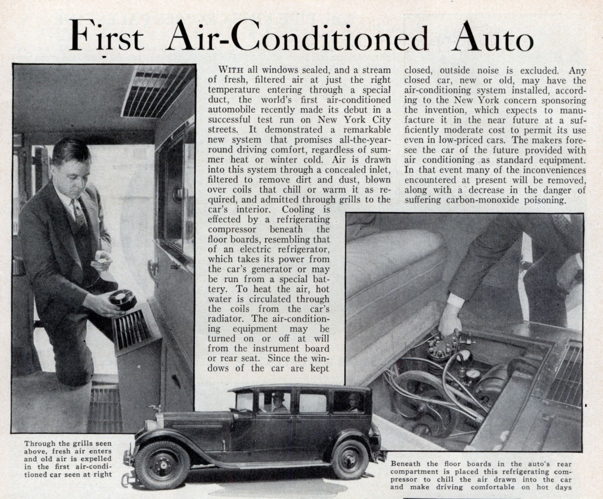 Cold Comfort: History of Automotive Air Conditioning, Part 1 – Pre ...