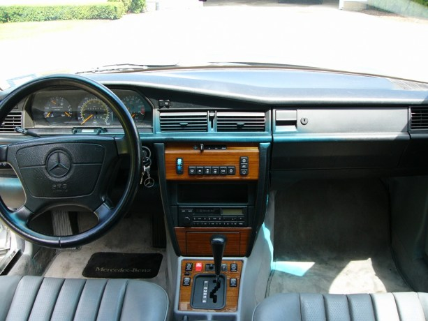 The businesslike, but more luxurious than BMW, interior