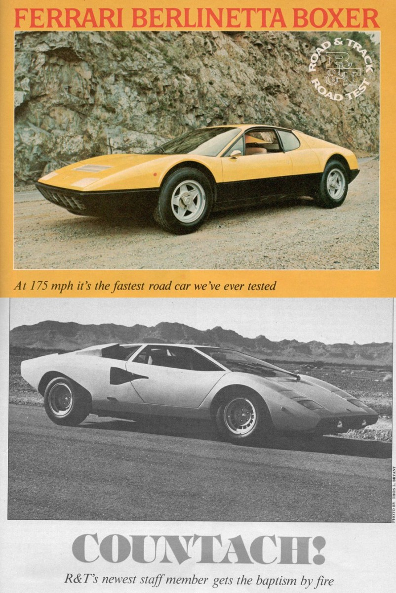 Vintage Ru0026T Reviews: Ferrari Berlinetta Boxer And Lamborghini Countach, And  Some Additional Eye Candy