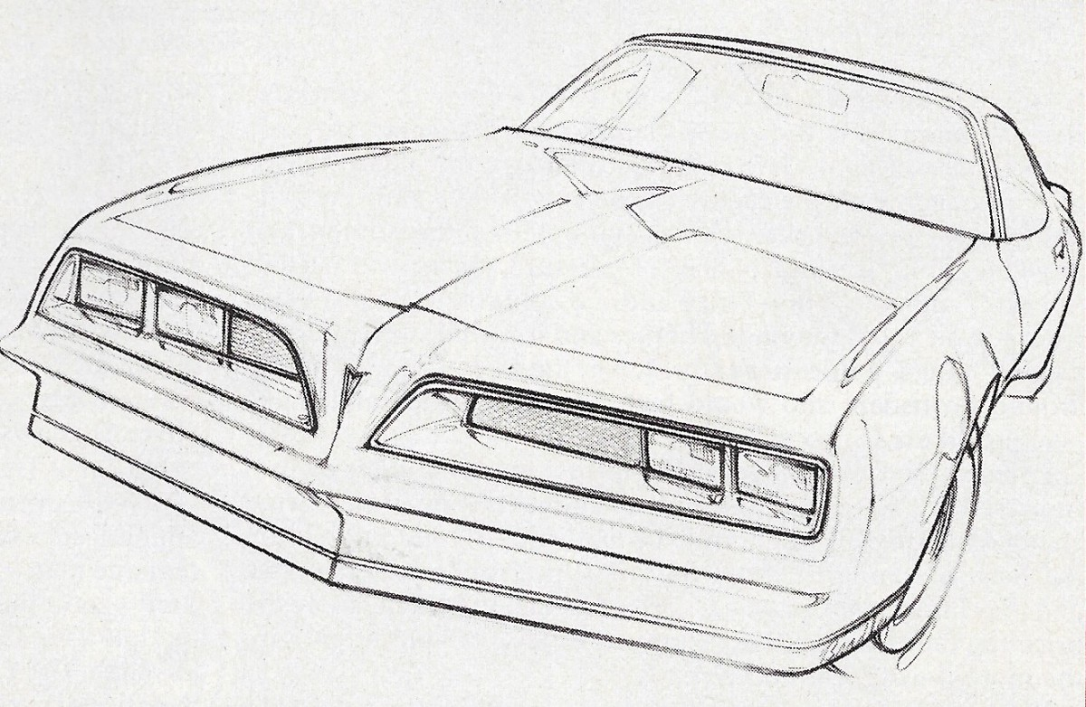 Vintage Article Domestic New Car Preview Sketches
