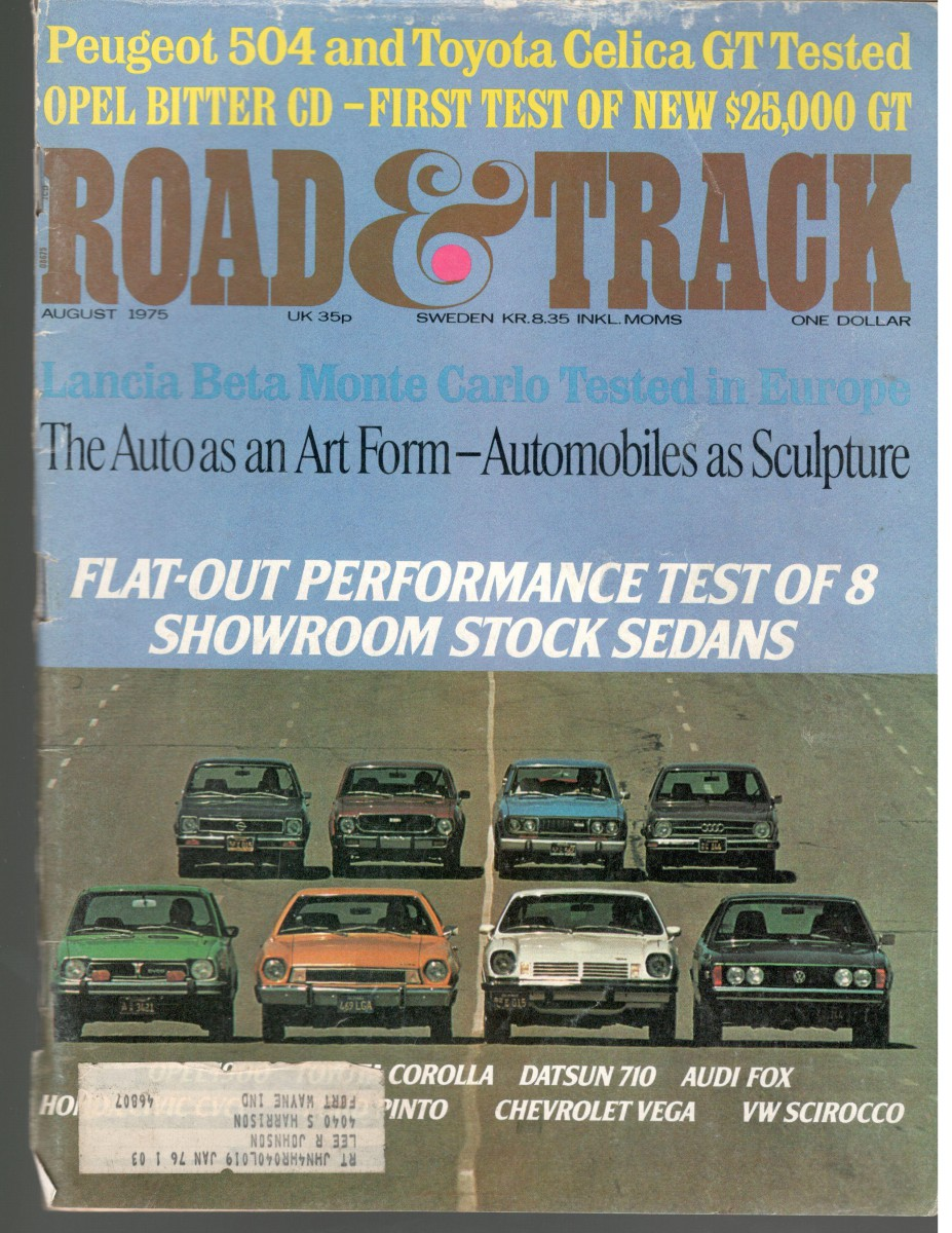 Vintage R&T Feature: Flat-Out Performance Test of 8 Showroom Stock ...