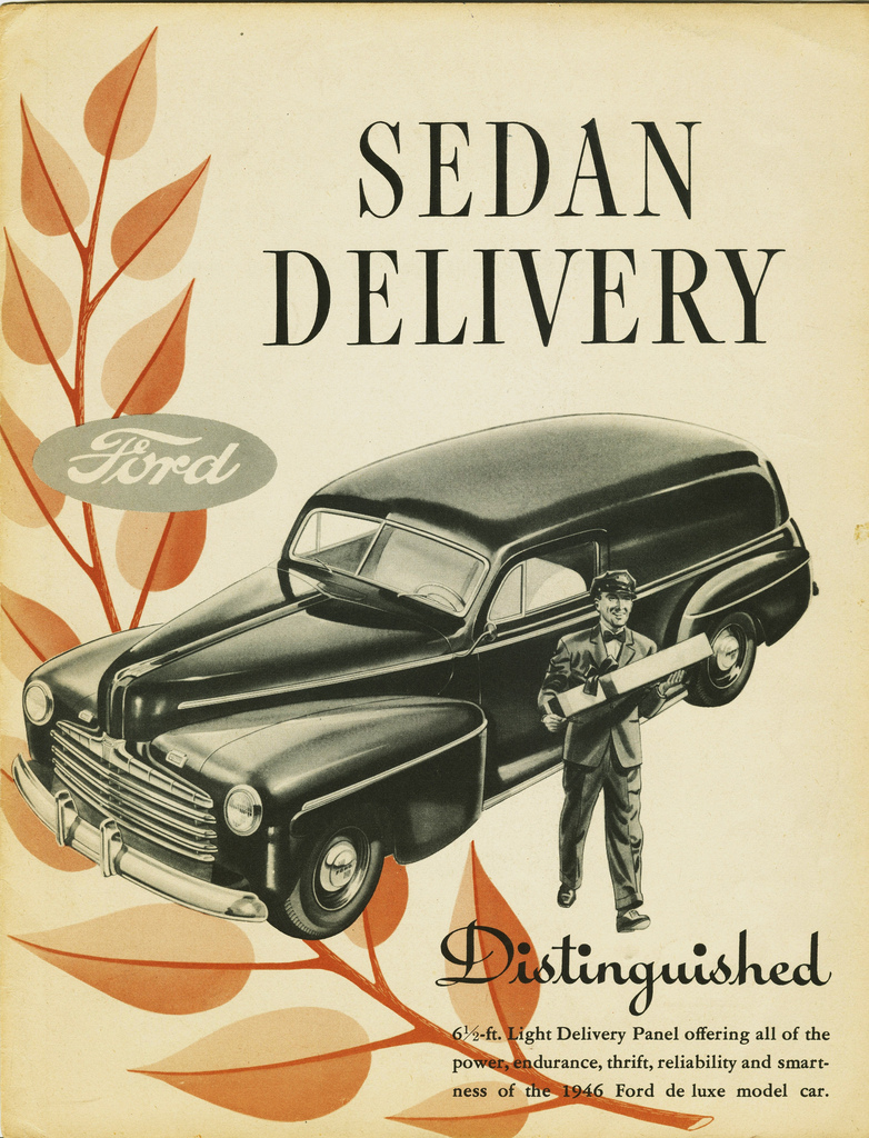 Automotive History The Sedan Delivery Window Lift Wiring Diagram For 1956 Studebaker Passenger Car 4 Door Sedans Models 1946 Ford