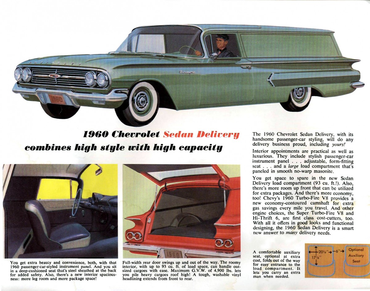Automotive History The Sedan Delivery Window Lift Wiring Diagram For 1956 Studebaker Passenger Car 4 Door Sedans Models 1960 Last Year Full Sized Chevrolet