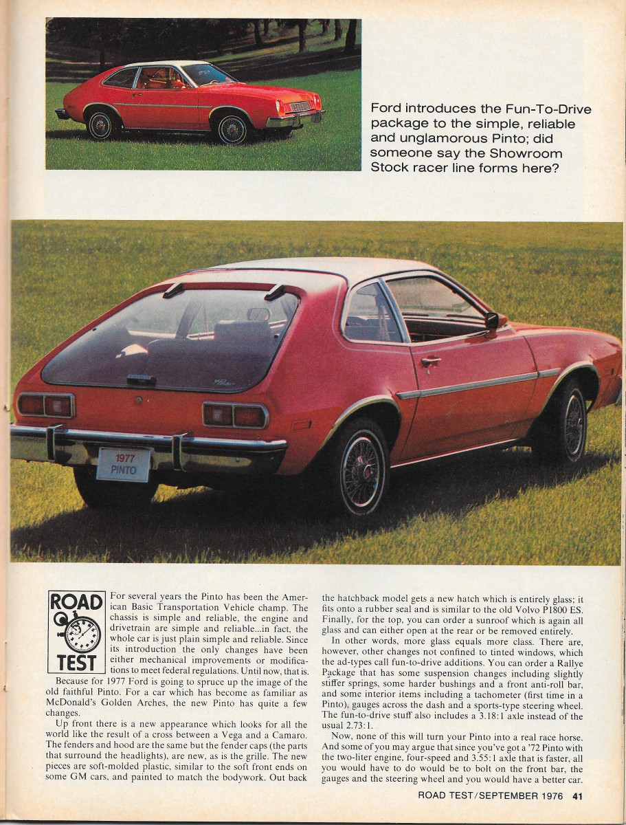1977 100 dollar bill security features - The September 1976 Issue Of Road Test Magazine Took An Advance Look At The Updated 1977 Pinto The Editors Noted The Minor Appearance Changes